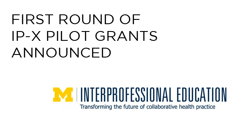 First Round of IP-X Pilot Grants Announced
